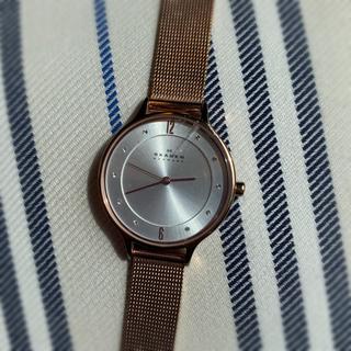 スカーゲン(SKAGEN)のSKAGEN ピンクゴールド メッシュスチルウォッチ(腕時計)