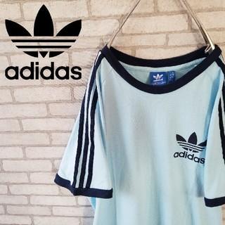 アディダス(adidas)の古着 レアカラー adidas 半袖 tシャツ スリーストライプ  (Tシャツ/カットソー(半袖/袖なし))