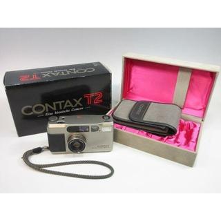 キョウセラ(京セラ)のCONTAX コンタックス T2D T2データバック 箱付 美品(フィルムカメラ)