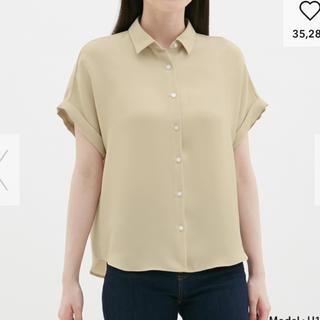 ジーユー(GU)のエアリーシャツ(半袖)(シャツ/ブラウス(半袖/袖なし))