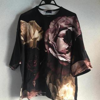 ラッドミュージシャン(LAD MUSICIAN)のラッドミュージシャン LAD MUSICIAN 薔薇柄 花柄 ビッグTシャツ(Tシャツ/カットソー(半袖/袖なし))
