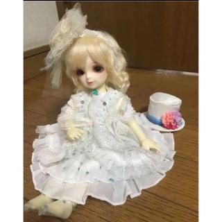 VOLKS - 幼SD.幼天使サイズ/白×水玉ドットドレスセット/スーパードルフィー/ボークス