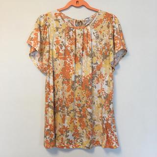 アルファキュービック(ALPHA CUBIC)のチュニック キレイなオレンジ花柄 Mサイズ(チュニック)