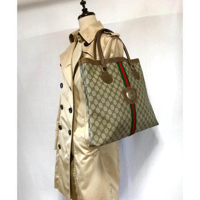 Gucci - vintage old gucci シェリーライン トートバッグの通販 by AC's shop|グッチならラクマ