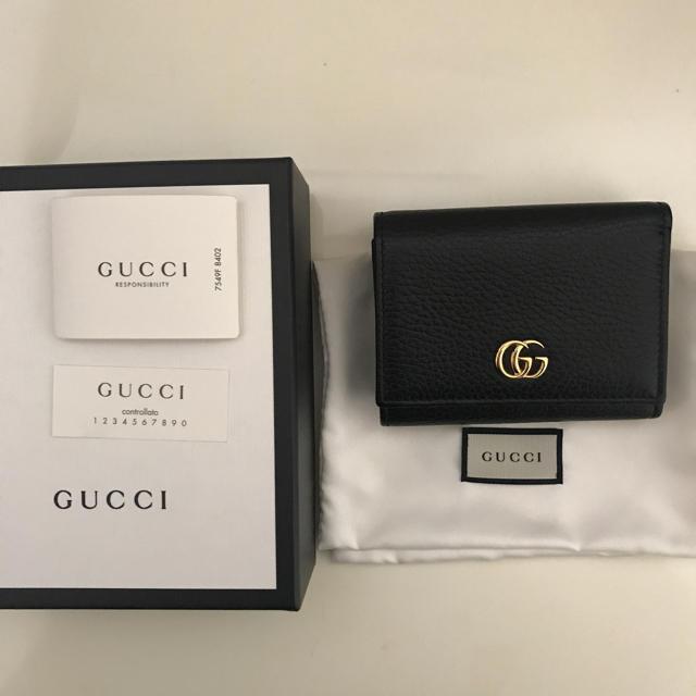 Gucci - GUCCIプチマーモント三つ折り財布✴︎グッチ財布の通販 by sira's shop|グッチならラクマ