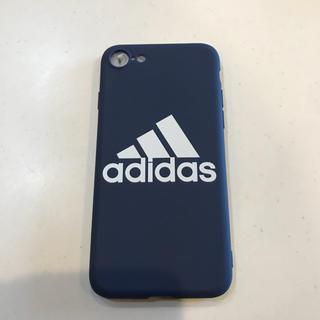 アディダス(adidas)のadidas  iPhoneケース ネイビー ★新品未使用★(iPhoneケース)
