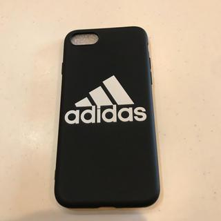アディダス(adidas)のadidas iPhoneケース 黒 ★新品未使用★(iPhoneケース)