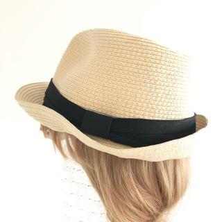 ジーユー(GU)のジーユー GU ハット ストローハット 中折れハット 麦わら帽子(麦わら帽子/ストローハット)