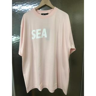 グランドキャニオン(GRAND CANYON)のwindandsea ロゴTシャツ ピンク XL(Tシャツ/カットソー(半袖/袖なし))