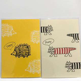 リサラーソン(Lisa Larson)のリサラーソン   イギー&マイキー 活版ポストカード(その他)
