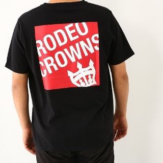 RODEO CROWNS WIDE BOWL - 完売品✩RODEO CROWNS✩RCWB✩メンズボックスロゴVネックTシャツ