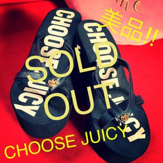 ジューシークチュール(Juicy Couture)のジューシークチュール厚底サンダル黒(サンダル)