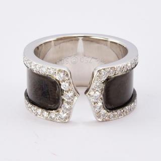 カルティエ(Cartier)のカルティエ リング K18WG ダイヤモンド ブラックラッカー #50 10号(リング(指輪))