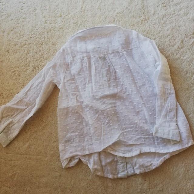 Seraph(セラフ)の長袖 ブラウス 白 95 キッズ/ベビー/マタニティのキッズ服 女の子用(90cm~)(ブラウス)の商品写真