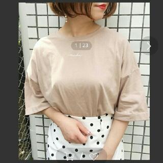 カスタネ(Kastane)の《新品》a pres jour☆刺繍ロゴTシャツ(Tシャツ(半袖/袖なし))