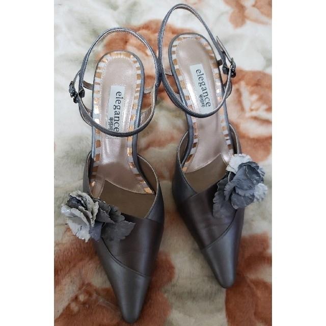 elegance卑弥呼(エレガンスヒミコ)のエレガンス卑弥呼パンプス取り外し可能コサージュ付き22.5cm レディースの靴/シューズ(ハイヒール/パンプス)の商品写真