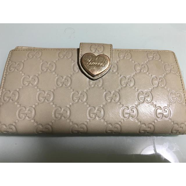 Gucci - GUCCI 長財布 ベージュの通販 by ぶうぶう's shop|グッチならラクマ