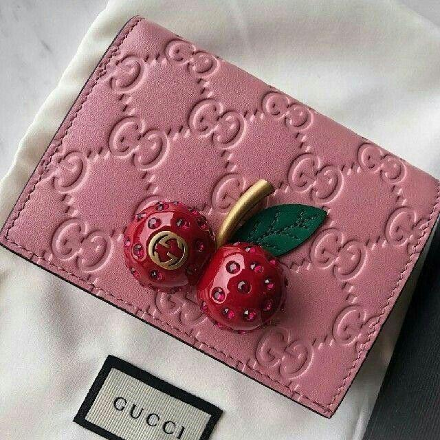 Gucci - gucciピンクチェリー財布の通販 by hehehe's shop|グッチならラクマ