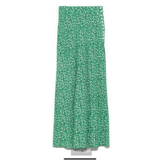 フレイアイディー(FRAY I.D)のFRAY ID バイヤスナローフレアスカート グリーン サイズ0(ロングスカート)