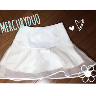 マーキュリーデュオ(MERCURYDUO)のMERCURYDUO♡オーガンジーSk(ミニスカート)
