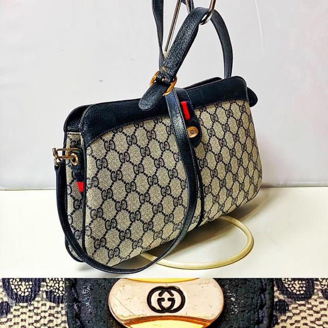 Gucci - 1217.中美 アクセコ オールドGUCCI シェリーライン 2 Way バッグの通販 by ZipLine's shop|グッチならラクマ