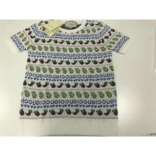 グッチ(Gucci)の2019 🍓🍌🍍正規品、美品 GUCCI 半袖セーター *Sサイズ*(ニット/セーター)