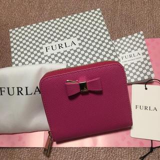 フルラ(Furla)の週末お値下げ フルラ  新品 折財布 ピンク リボン(財布)