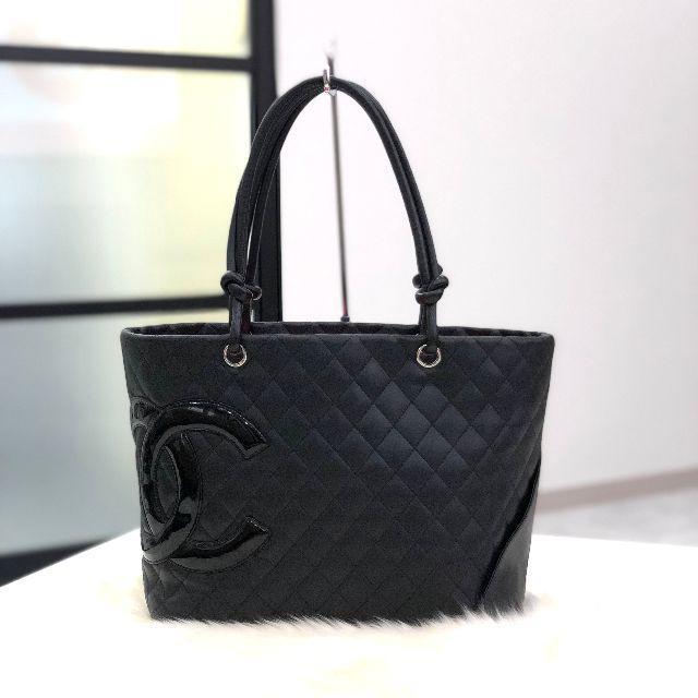 CHANEL - シャネル カンボンライン トートバッグ ラージ 黒 の通販 by ☆Marlo✩'s shop|シャネルならラクマ