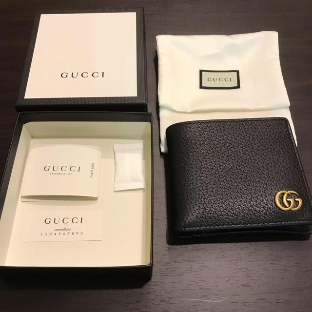 Gucci - 【送料無料】GUCCI二つ折り財布 小銭入れ有れの通販 by chan's shop|グッチならラクマ