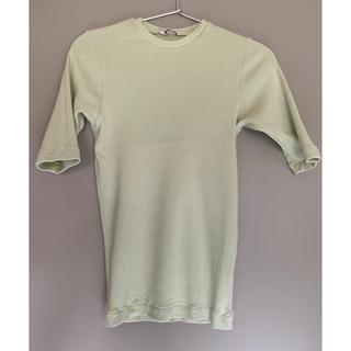 火曜日まで値下げ出品★AURALEE リブTシャツ オーラリー(Tシャツ(半袖/袖なし))