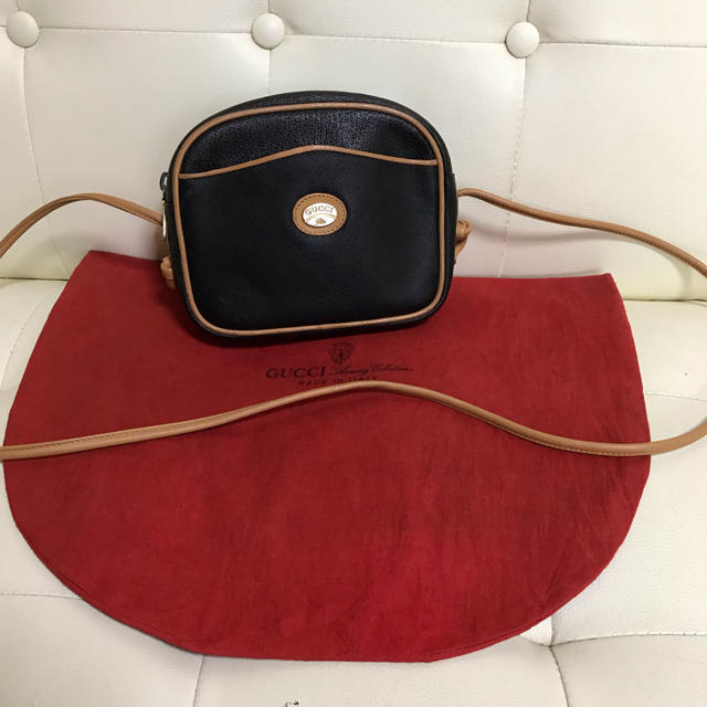 miumiu バッグ 激安メンズ | Gucci - 極 美品 GUCCI オールド グッチ バイカラー レザー ショルダー バッグの通販 by Safari|グッチならラクマ