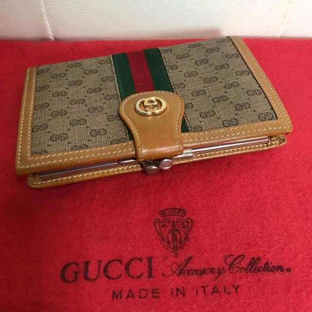 Gucci - 可愛い!人気 GUCCI オールド グッチ シェリーライン がま口 折れ 財布の通販 by Safari|グッチならラクマ