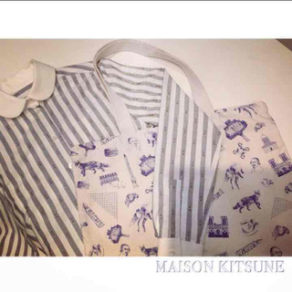 メゾンキツネ(MAISON KITSUNE')の1点のみ!タグ付き新品☆maison kitsune  トートバッグ パリモデル(トートバッグ)