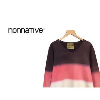 ノンネイティブ(nonnative)のnonnative ボーダー グラデーション スウェット / トレーナー(スウェット)