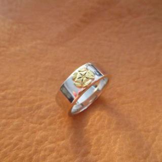 ゴローズ(goro's)のゴローズ 平打リング k18ローズ 21号 美品(リング(指輪))