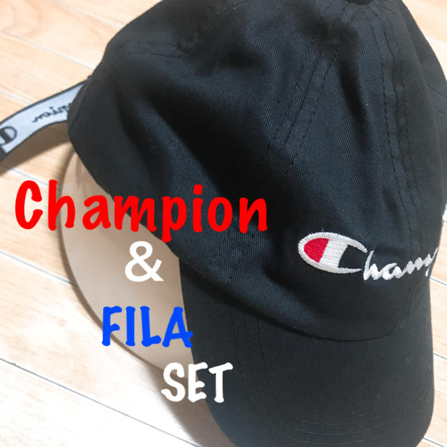Champion(チャンピオン)の美品 Champion CAP & FILA ショルダーオマケ付き レディースの帽子(キャップ)の商品写真