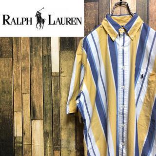ラルフローレン(Ralph Lauren)の【激レア】ラルフローレン☆ワンポイント刺繍ロゴ半袖マルチストライプシャツ 90s(シャツ)