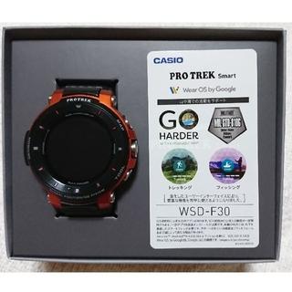 カシオ(CASIO)の正規品CASIO プロトレック PROTREKSmart WSD-F30-RG(腕時計(デジタル))