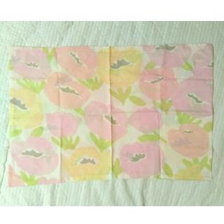 ベルメゾン(ベルメゾン)の北欧風 お花柄 枕カバー 43×63 未使用 ピンク(シーツ/カバー)