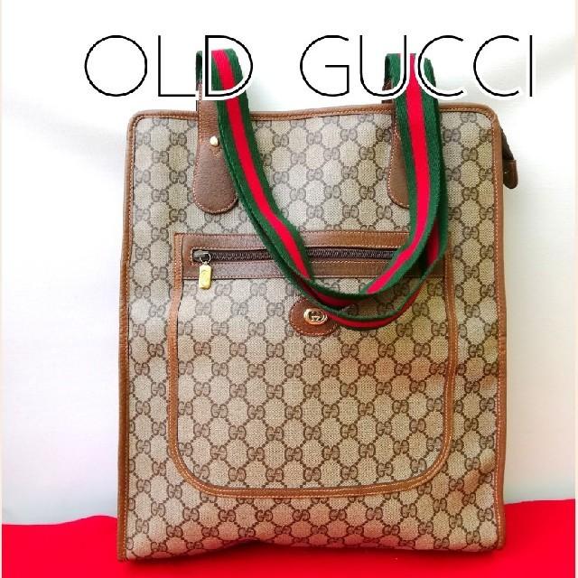 Gucci - 良品! オールドグッチ シェリーライン ビンテージトートバッグ ハンドバッグの通販 by vintage  shop|グッチならラクマ