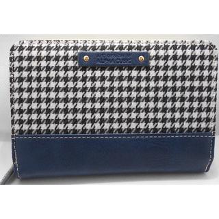 アルファキュービック(ALPHA CUBIC)の【新品】アルファキュービック 二つ折り財布 格子 ブルー レディース(財布)