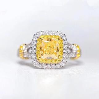 Gia☆1.01ctファンシーイエローダイヤモンド指輪(リング(指輪))