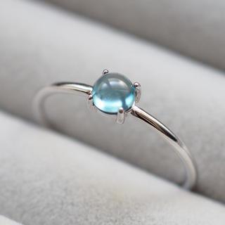 宝石質ロンドンブルートパーズのリング ete agete アダムエロペ(リング(指輪))