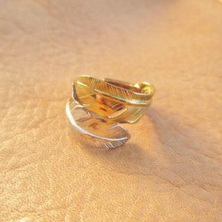 ゴローズ(goro's)のラリー様専用 ゴローズ コンビWフェザーリングL k18×SV  美品(リング(指輪))