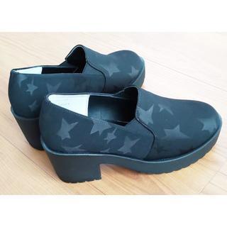 【新品】ブラックスター 厚底靴(その他)