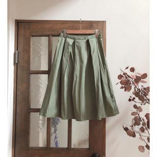 ドアーズ(DOORS / URBAN RESEARCH)の新品 アーバンリサーチドアーズ 膝下スカート フレアスカート(ひざ丈スカート)