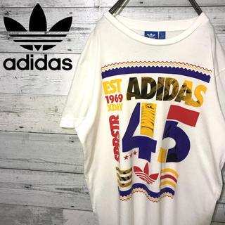 アディダス(adidas)の【レア】アディダスオリジナルス adidas☆ビッグロゴ ロゴタグ Tシャツ(Tシャツ/カットソー(半袖/袖なし))