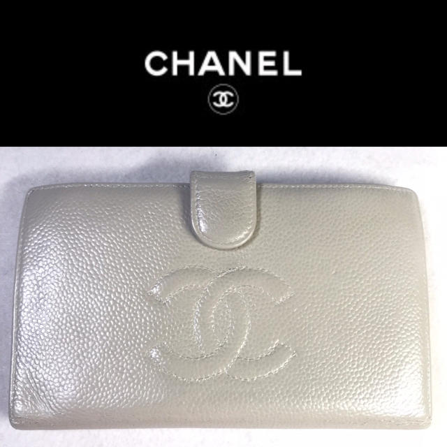 グッチ 財布 格安 - CHANEL - 正規品 シャネル  キャビアスキン  シルバー 長財布の通販 by USED買うならすぐ使えるリペア済|シャネルならラクマ