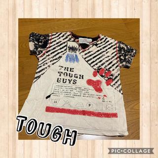 タフ(TOUGH)のTOUGH ダメージ ロック Tシャツ 肉球(Tシャツ(半袖/袖なし))
