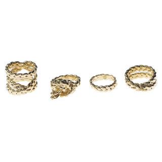 マルタンマルジェラ(Maison Martin Margiela)の【新品】Maison Margiela 4連リング マルジェラ ゴールド(リング(指輪))